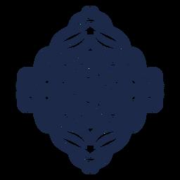Adesivo de ornamento de padrão folclórico de flores