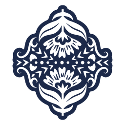 Flowers folk pattern ornament sticker