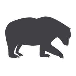 Urso de floresta urso de silhueta
