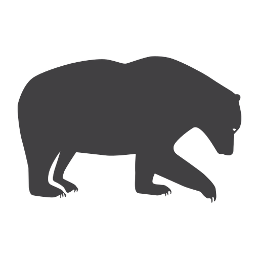 Forest bear silhouette bear