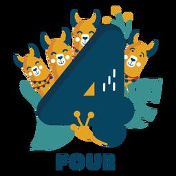Numero de cuatro perros