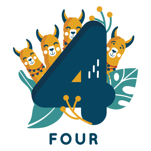 Four dogs number
