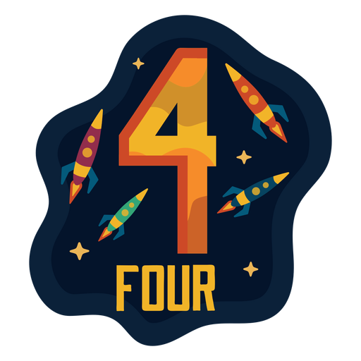 Four spaceships number