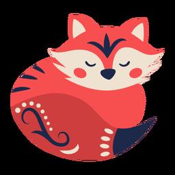Ornamento de arte popular raposa
