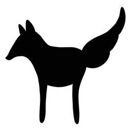 Fox folk art silhouette