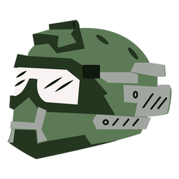 Full face military helmet