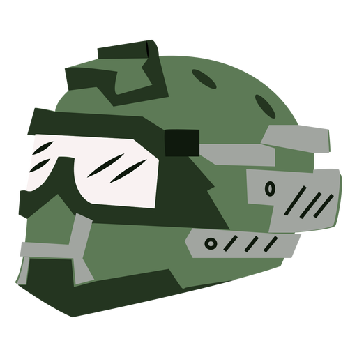 Full face military helmet Transparent PNG
