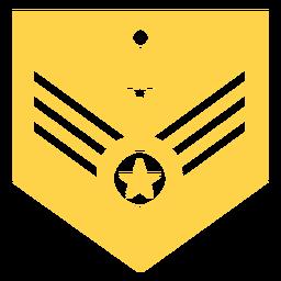 Silueta de rango militar mayor general