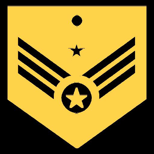 Silueta de rango militar mayor general Transparent PNG