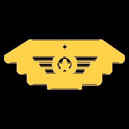 Silueta de insignia militar general