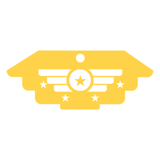 General military insignia silhouette Transparent PNG