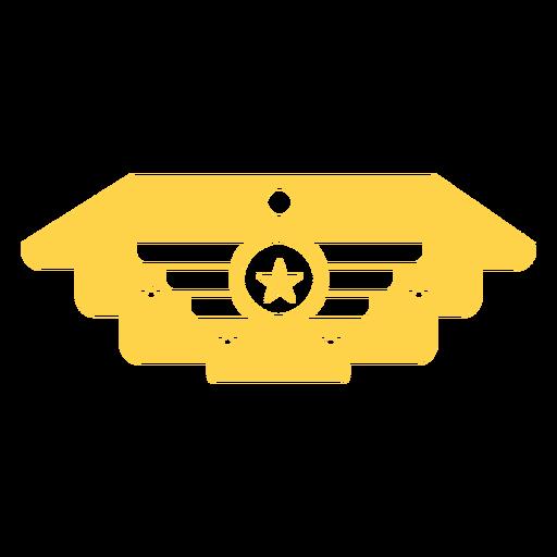 Silueta de insignia militar general Transparent PNG