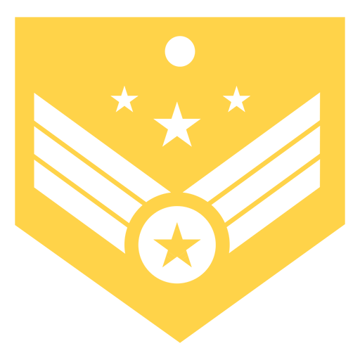 General military rank silhouette Transparent PNG