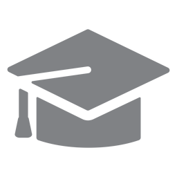 Graduation cap flat icon