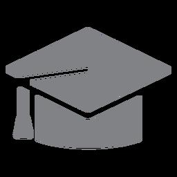 Icono plano de gorra de graduación