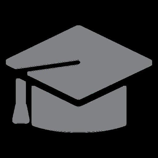 Icono plano de gorro de graduación