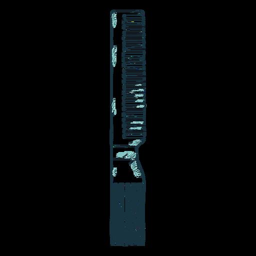 Gripper comb hand drawn