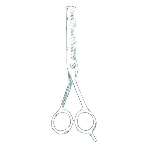 Hairdressing scissors hand drawn Transparent PNG