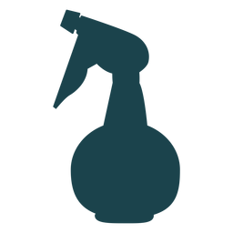 Hairdressing spray bottle silhouette