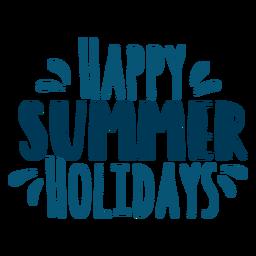 Felices vacaciones de verano letras