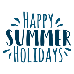Happy summer holidays lettering