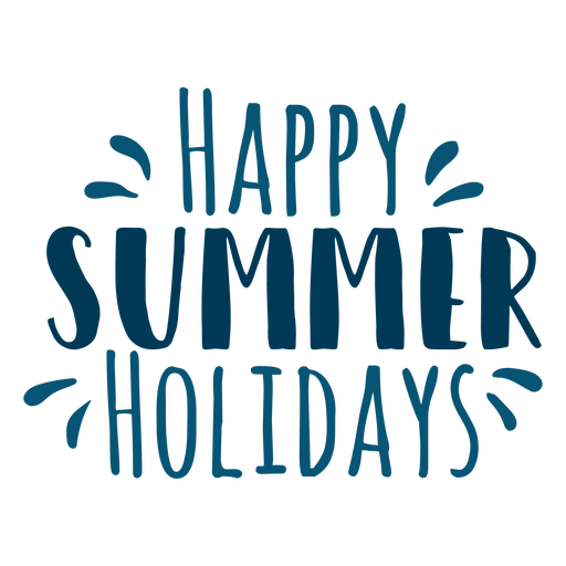 Happy summer holidays lettering Transparent PNG