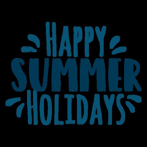 Letras de felices vacaciones de verano