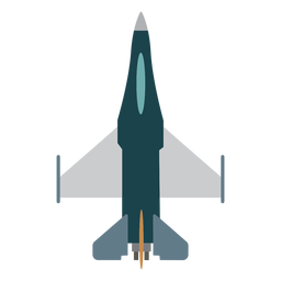 Hornet aircraft top view icon