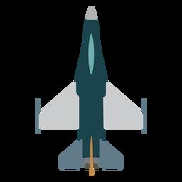 Icono de vista superior de avión Hornet