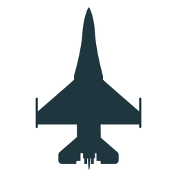 Hornet aircraft top view silhouette