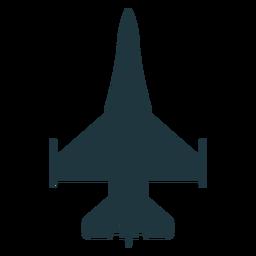 Silhueta de vista superior de aeronaves Hornet