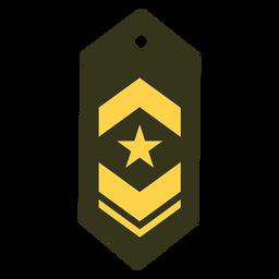 Icono de rango militar de teniente comandante