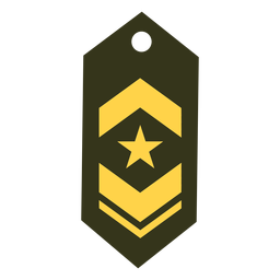 Teniente comandante icono de rango militar