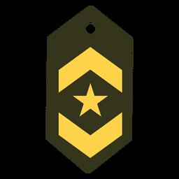 Teniente icono de rango militar