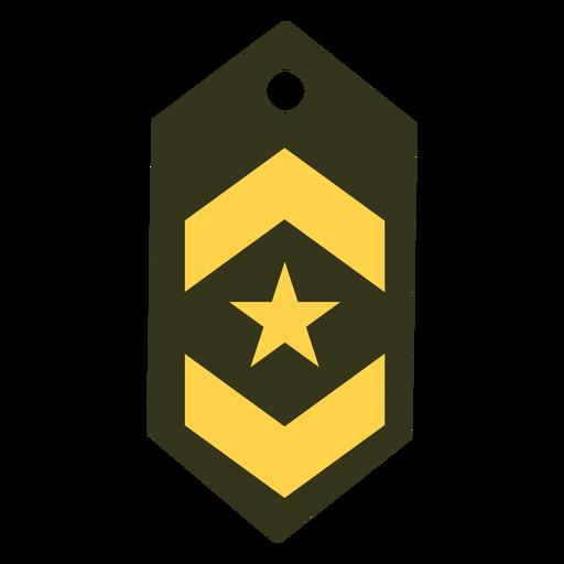 Icono de rango militar de teniente Transparent PNG