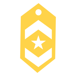 Lieutenant military rank silhouette