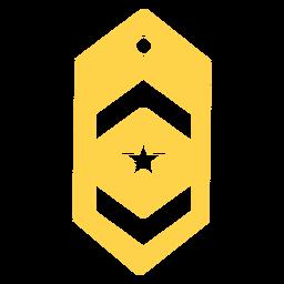Teniente militar rango silueta