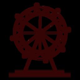 London eye ferris wheel silhouette