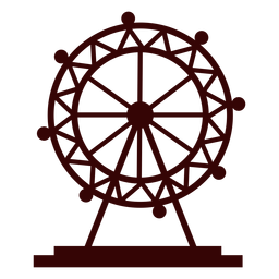 Silhueta de roda-gigante de olho de Londres