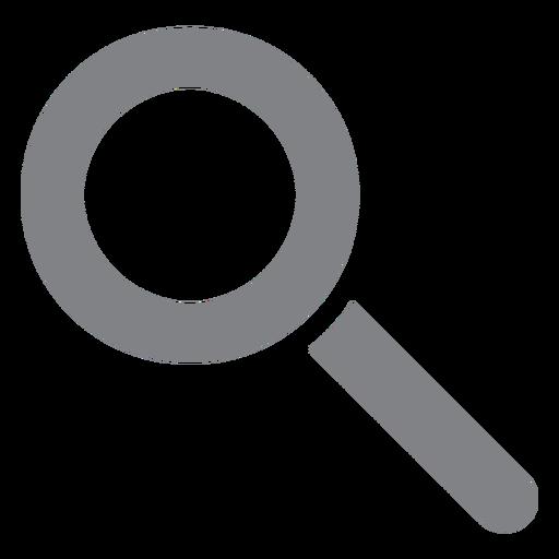 Lupa icono plano escuela Transparent PNG