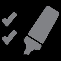 Icono plano marcador y garrapatas