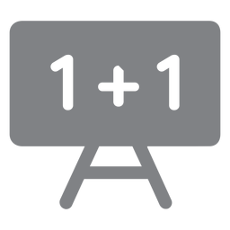 Icono plano de pizarra de matemáticas