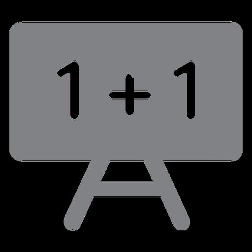 Math blackboard flat icon