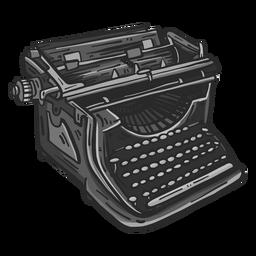 Máquina de escribir mecánica color clipart
