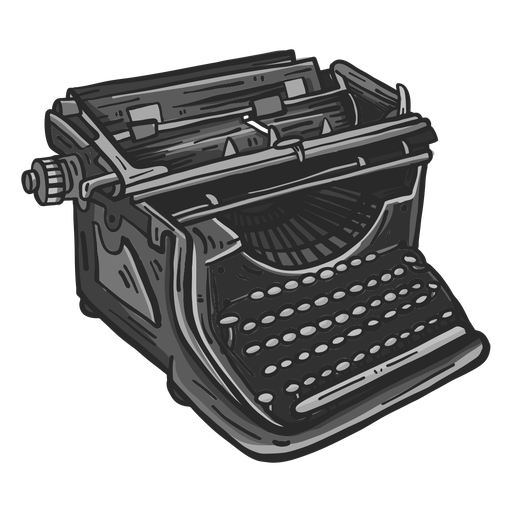 Mechanical typewriter colored clipart Transparent PNG