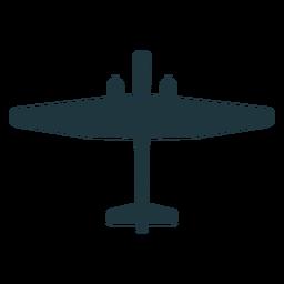 Silhueta de elemento de aeronave militar