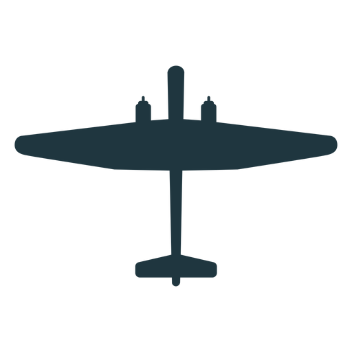 Military aircraft element silhouette