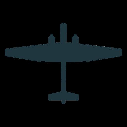 Silueta de elemento de avión militar