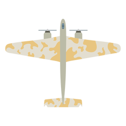 Military aircraft flat icon