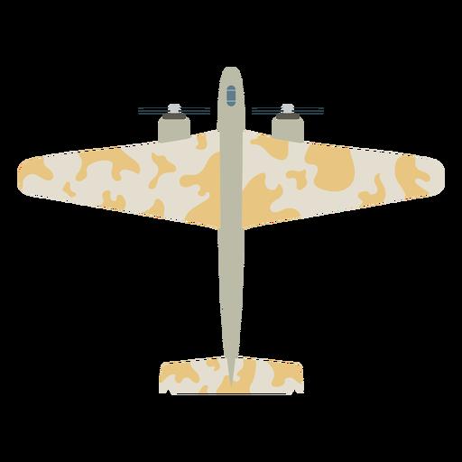 Icono plano de aviones militares Transparent PNG